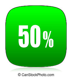 50 percent green icon