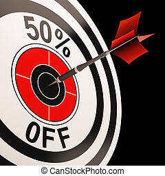 50 Percent Off Shows Percentage Reduction On Price - 50...
