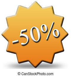 50 percent off tag