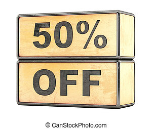 50 percent sale discount