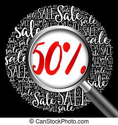 50 percent Sale word cloud