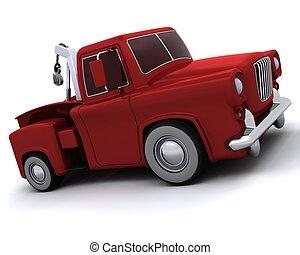 50, pickup, karykatura, wózek