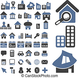 50 real estate signs, vector