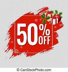50% Sale Red Blobs Banner