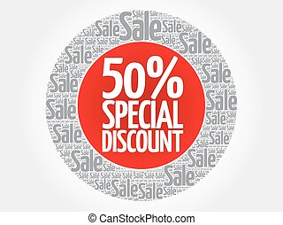 50% Special Discount stamp