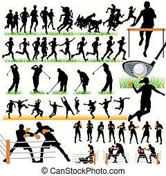 50 Sport Silhouettes Set