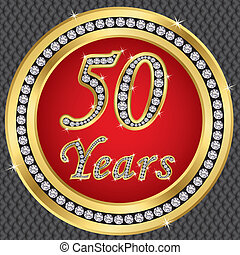 50 years anniversary, happy birthda