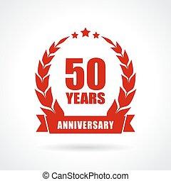50 years anniversary icon