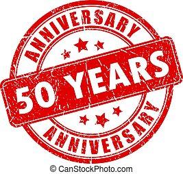 50 years anniversary rubber stamp