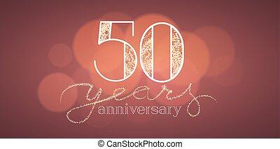 50 years anniversary vector illustration, banner