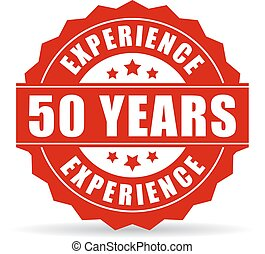 50 years experience vector icon isolated on white background