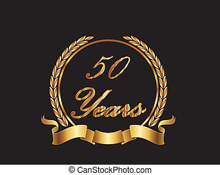 50 Years in gold