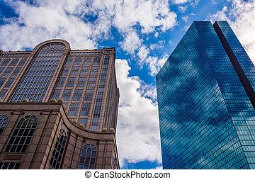 500 Boylston Street and the John Hancock Building in Boston, Massachusetts.