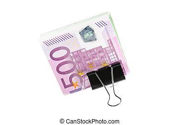 500 euro cash in clip