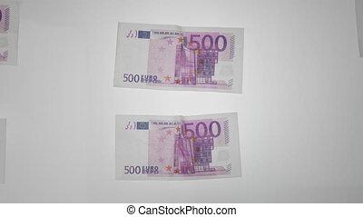 500 euro notes - paper money euro stop motion animation