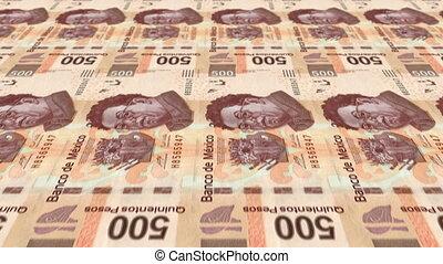 500 Peso Money Press - Animated 500 Pesos Bill Money Press