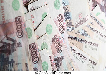 500 rubles macro background