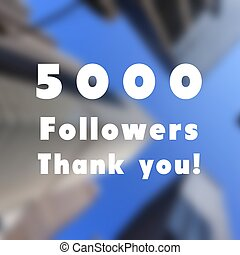 5000 followers sign