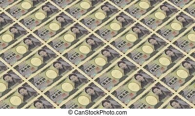 5000 japanese yen,Printing Money Animation.
