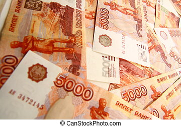 5000 rubles macro background