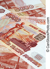 5000, vantaggio, monetario, denominations., russo, roubles.