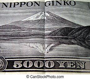 5000 yen-detail - An old 5000 yen bill-detail.The image...