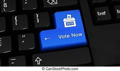 503., szavaz, jelenleg, forgás, indítvány, képben látható, computer billentyűzet, button.
