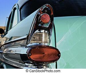 50s car fin - A green 50s rear car fin.