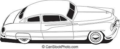 50's Mercury - Line Drawing Vectored Mercury