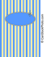 50's Retro Blueberries & Cream Candy Stripes - 1950's retro...