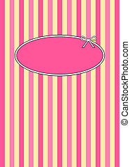 50s Retro Raspberries & Cream - 1950s retro candy stripes...