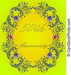 50th, 記念日カード, 結婚式