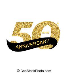 50th, 記念日, イラスト, テンプレート