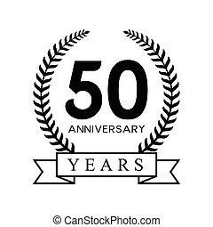 50th, anniversario, anni