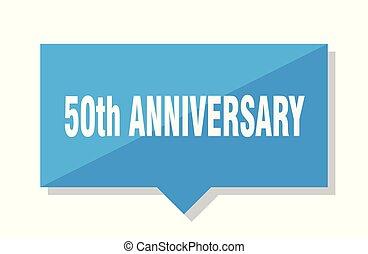 50th, anniversario, cartellino del prezzo