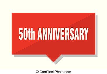 50th, anniversario, etichetta rossa