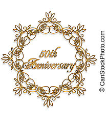50th anniversary Design element - 50th anniversary design...