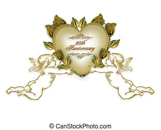 50th Anniversary invitation angels - Illustration ...