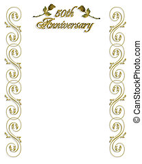 50th Anniversary Invitation Border