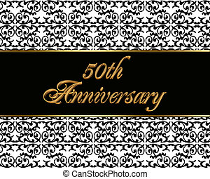 50th anniversary invitation card