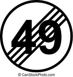 50th birthday traffic sign