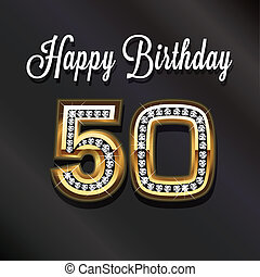 50th Happy birthday card