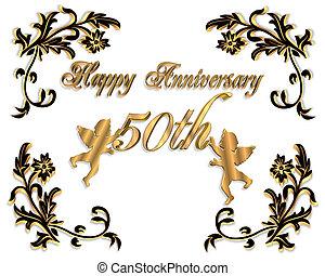 50th, huwelijk verjaardag