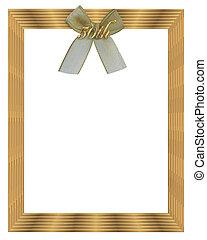 50th, huwelijk verjaardag, frame