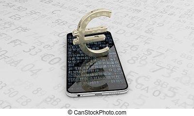 51, kaletka., pieniądze, waga, online, euro