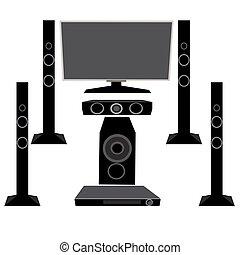 5.1, set, appliances:, tv, huisgezin, vrijstaand,...