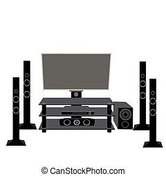 5.1, set, electronics:, tv, uitrusting, hifi, audio,...