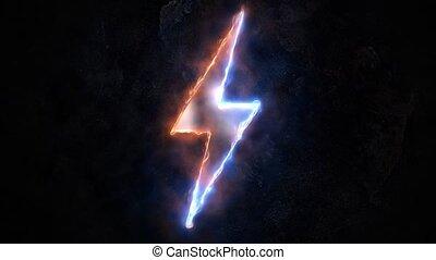 51., znak, poznaczcie., plasma., piorun, elektryczność