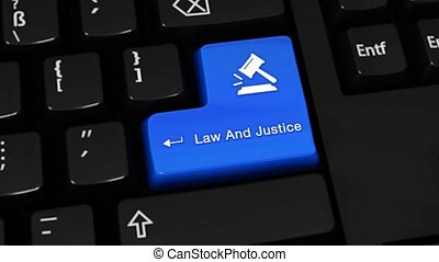 525. Law And Justice Rotation Motion On Computer Keyboard Button.