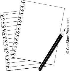 5259(1).jpg - pencil and notebook in black and white